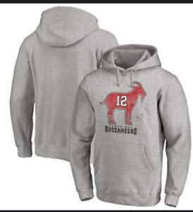 Tom Brady #12  Goat Hoodie Tampa Bay Buccaneers Fanatics NFL apparel large Tags
