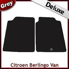 Citroen Berlingo Van Mk1 1996-2007 1-Clip Tailored LUX 1300g Carpet Mats GREY