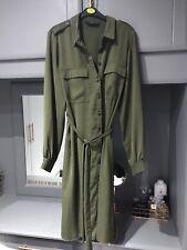F&F Midi Khaki Dress Utility Size 16