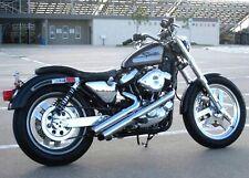 "Radii Chrome 2"" Viper Sideshots Drag Exhaust Pipes 86-03 Harley Sportster Custom"
