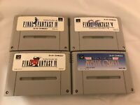 Lot Final Fantasy 4 5 6 USA SFC Super Famicom SNES NTSC-J JAPAN Import Test