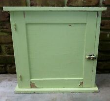 Vintage Wood Green Color Cabinet Shabby Chic Design Chippy Paint Cottage