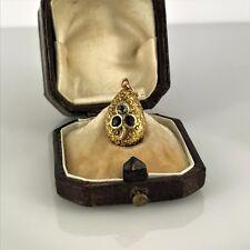 Antique Russian Gold Diamond GEM-SET Egg pendant, circa 1908