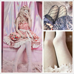 Spring Summer Girls Tights Striped Sexy Stockings Lolita Nylon Tights With Foot