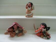 3 Enesco Friends of the Feather Figurines Smile Carver Brothers of the Earth