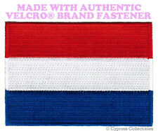 NETHERLANDS FLAG PATCH DUTCH EMBROIDERED SOUVENIR new w/ VELCRO® Brand Fastener