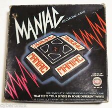 MANIAC Electronic Game 1979 Ideal Complete in Box Vintage Original Kind of Works
