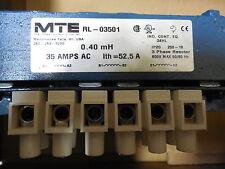 MTE, RL-03501 LINE REACTOR,A1-A2 35 AMPS AC,B1-B2 ITH 52.5A,C1-C2 600 VOLTS