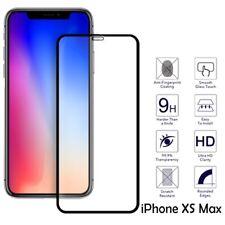 Pour iPhone XS Max Genuine Tempered Verre Plein Écran Film Protecteur Cover Noir