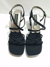 Unlisted Kenneth Cole Womens Black Strappy Heels NWB Size 8 M