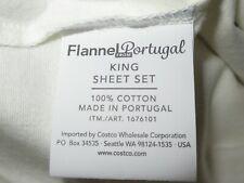 King Portuguese Cotton Flannel Sheet Set