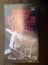 Deep Purple Machine Head Live 1972 VHS Tape (not TMOQ LP CD)