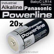 20x Baby C LR14 MN1400 Batterie PANASONIC POWERLINE INDUSTRIAL