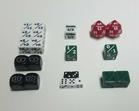 Commander Dice Starter Set / 22 Unique Counters for EDH / Magic: The Gathering