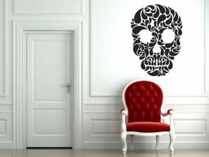 Wall Art Vinyl Sticker Decal Mural Design Leaves Skeleton Beutiful #596