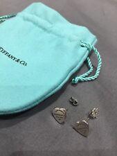 """Tiffany & Co """"RItorno a Tiffany"""" MINI Tag Cuore Orecchini D'Argento"""