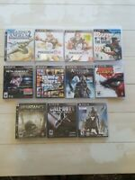 CIB Lot of 11 Sony PlayStation 3 PS3 Video Game Bundle Disc Box Manual Tested