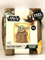 Disney Star Wars Mandalorian The Child Baby Yoda Throw 40 x 50 Blanket Soft!