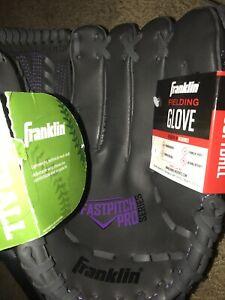 "Franklin 11"" Fastpitch Pro Series Softball Glove - RHT - Purple/Grey - New"