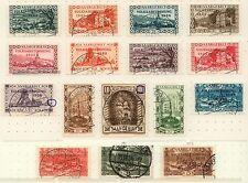 """Saar 179 - 194 mit 189 I und 194 II, """"Volksabstimmung 1935"""", gestempelt, #a400"""