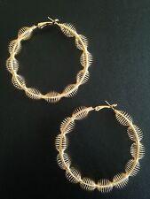 Earrings Big Hoop Gold Hippie Boho Spikes Tribal Gypsy Bohemian A1092