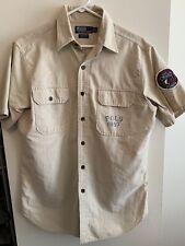 Polo Shark 2003 Vintage Ralph Lauren Button Down Ocean Camp Shirt Mens M