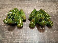 Vintage Ceramic Frog Figurine Anatomically Correct Male & Female. 2 Pieces