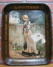 Antique H PATTERSON DEPARTMENT STORE HENDERSON NC Advertising Tray c1911 AAW