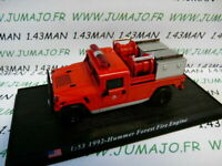PDP53G 1/53 DEL PRADO Pompiers du Monde : 1992 Hummer Forest fire engine