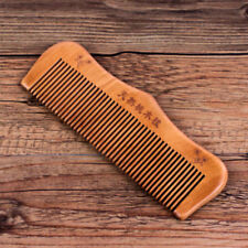 Peach Wood Comb Head Massage Hair Care Comb Close Teeth Anti-static New US