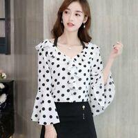 Ladies Shirt Chiffon T-Shirt Fashion Long Sleeve Loose Summer Top Women Blouse