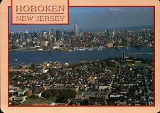Hoboken New Jersey Hudson River, New York City, Empire State Building - Postcard