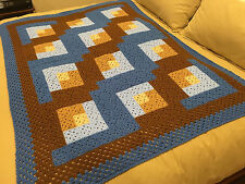 Handmade Afghan Throw / Blanket - Designer Collection - Rocky Mountain Skies