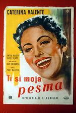 DU BIST MUSIK CATERINA VALENTE 1956 RARE EXYU MOVIE POSTER