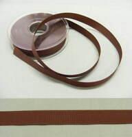 Grosgrain  15mm  Brown  Ribbon - 20 metres