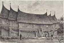 Antique print Indonesia Alahan Pandjang Sumatra VOC Indonesië