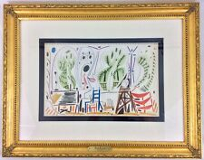 """Pablo Picasso """" Carnet De Californie """" Lithograph Unsigned Dated In Plate"""