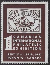 Canada Cinderella Stamp: 1951 CAPEX Toronto. cc1105-1 Brown - dw19k