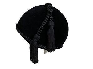 Yves Saint Laurent black felted velvet cloche vintage tassle 1976 hat YSL