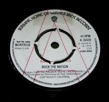 "MONTROSE Rock The Nation ORIGINAL UK WB 1974 DEMO 45"""