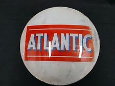 Vintage Atlantic Glass Gas Pump Sign
