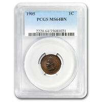 1905 Indian Head Cent MS-64 PCGS (Brown) - SKU#179490
