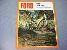Ford 4400 Tractor Loader Backhoe Color Brochure