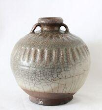antique 15th C Sawankhalok Celadon stoneware pottery jar Siam 16,5cm 6.5 inch