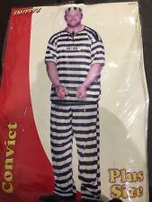 Mens Convict Costume Halloween