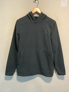 Under Armour Cold Gear Men's Pullover Hoodie Sweatshirt SMALL Gray Running EUC