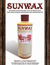 RARE & NEW The Orginal Sunwax Outdoor Wood Furniture Wax SW016 473ml 16 oz. Teak