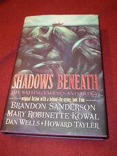 Shadows Beneath : Writing Excuses (2014, HC) SIGNED by Brandon Sanderson