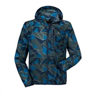 Schöffel Windbreaker Jacket AOP M dress blue Herren Jacke Wanderjacke Blau