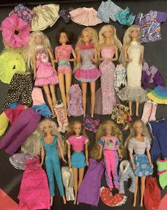 Vintage Mattel Barbie & Skipper Lot of 9 Dolls 1970's 1980's & Clothing/Outfits